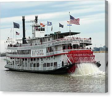 Nola Natchez Riverboat Canvas Print