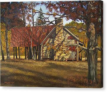 Nolan Corners Farmhouse Canvas Print by Peter Muzyka