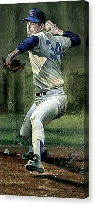 Nolan Ryan Canvas Print by Rich Marks