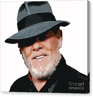 Nolte In Fedora Canvas Print by Pd
