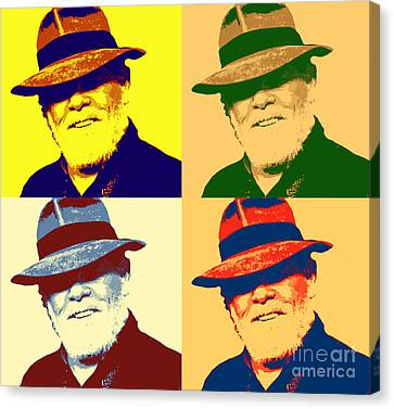 Nolte In Fedora Pop Art Canvas Print by Pd