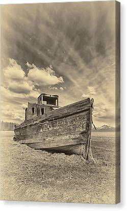 Nomad Sepia Canvas Print by Ed Boudreau