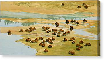 Nomads Canvas Print by Thomas Sorrell