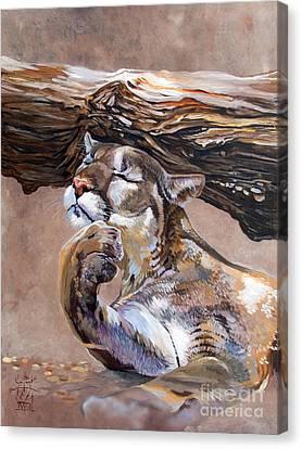 Indigenous Wildlife Canvas Print - Nonchalant by J W Baker