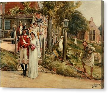 None But The Brave Deserve The Fair Canvas Print by James Shaw Crompton
