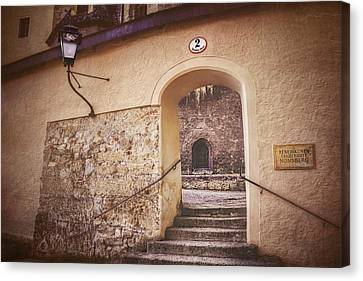 Nonnberg Abbey In Salzburg Austria  Canvas Print