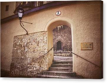 Canvas Print featuring the photograph Nonnberg Abbey In Salzburg Austria  by Carol Japp