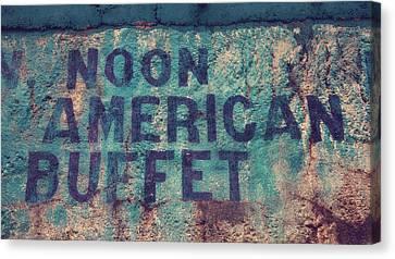 Noon American Buffet Canvas Print by Toni Hopper