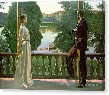 Nordic Summer Evening Canvas Print by Sven Richard Bergh