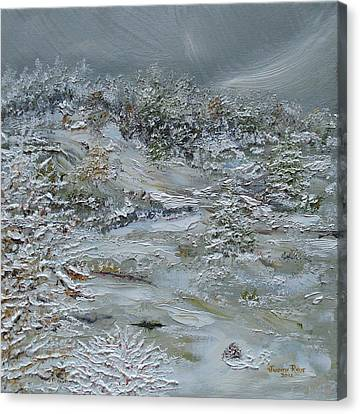 Canvas Print featuring the painting Nor'easter by Judith Rhue