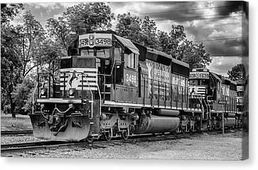 Train Depot Canvas Print - Norfolk Southern #3498 - Operation Lifesaver by Stephen Stookey