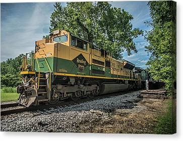 Southern Indiana Canvas Print - Norfolk Southern Ns 1067 At White River Bridge Petersburg In by Jim Pearson