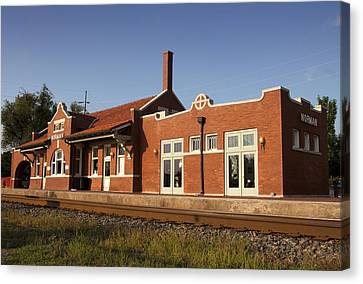 Train Depot Canvas Print - Norman Train Depot by Ricky Barnard