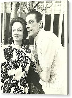 Norman Treigle And Linda Canvas Print