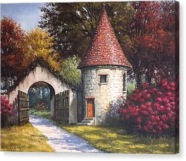 Normandy Garden Canvas Print by Sean Conlon