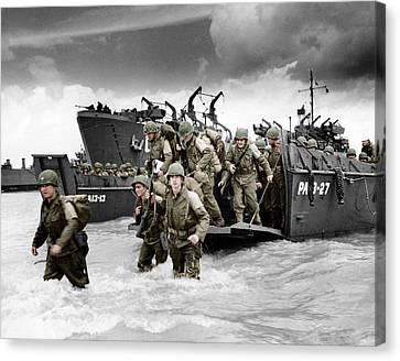 Normandy Landings Canvas Print by American School