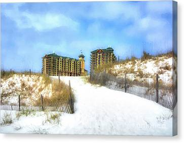 Canvas Print featuring the photograph Norriego Point Sand Dunes by Mel Steinhauer