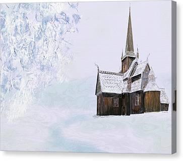 Norsk Kirke Canvas Print