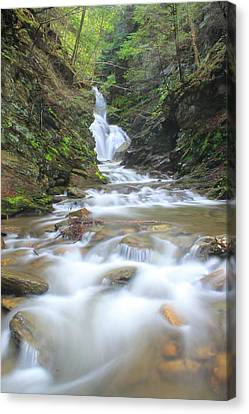 North Adams Cascade  Canvas Print by John Burk