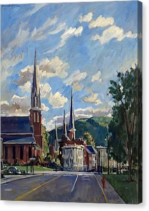 North Adams Massachusetts Canvas Print by Thor Wickstrom