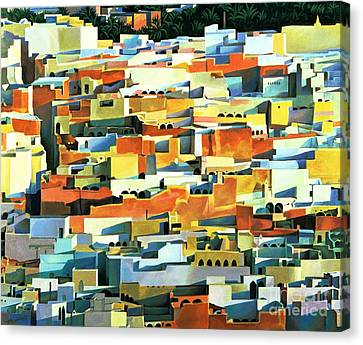 Morocco Canvas Print - North African Townscape by Robert Tyndall