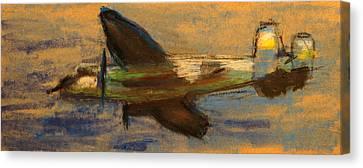 North American B-25 Mitchell Canvas Print by R Kyllo