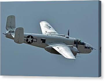 North American B-25j Mitchell N3675g Photo Fanny Chino California April 30 2016 Canvas Print by Brian Lockett