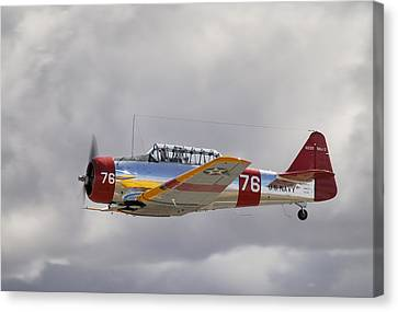 North American Harvard  Vh-nzh Canvas Print by Barry Culling