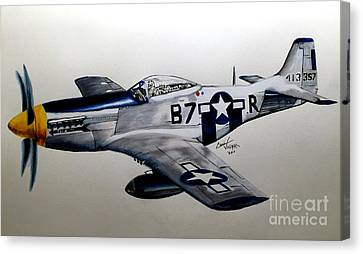 Ww Ii Canvas Print - North American P-51 Mustang by Chris Volpe