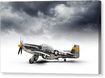 Fighter Canvas Print - North American P-51 Mustang by Douglas Pittman