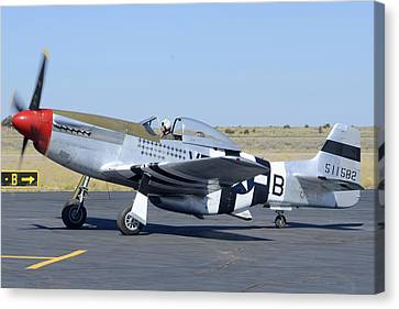 North American P-51d Mustang Nl5441v Spam Can Valle Arizona June 25 2011 3 Canvas Print by Brian Lockett