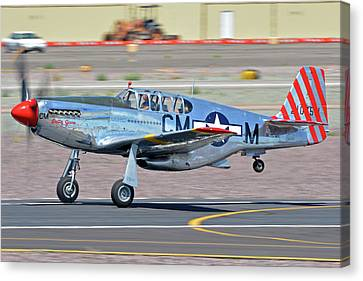 Canvas Print featuring the photograph North American Tp-51c-10 Mustang Nl251mx Betty Jane Deer Valley Arizona April 13 2016 by Brian Lockett