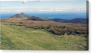 North Barrule And Maughold Head Canvas Print by Steve Watson