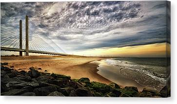 North Beach At Indian River Inlet Canvas Print