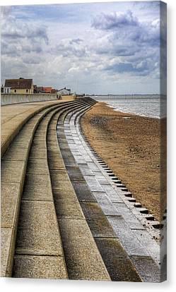 Norfolk Canvas Print - North Beach Heacham Norfolk by John Edwards