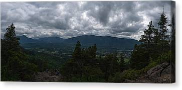 Canvas Print featuring the photograph North Bend Washington Panorama by Joshua House