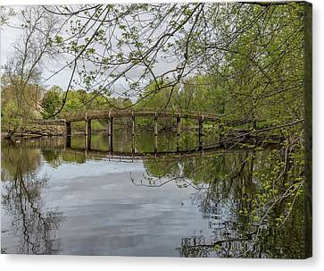 North Bridge Concord Massachusetts Canvas Print by Brian MacLean