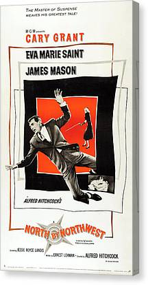 North By Northwest 1959 Canvas Print by Mountain Dreams