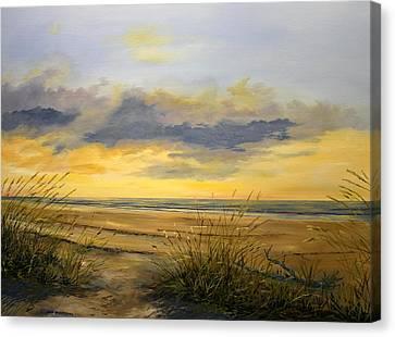 North Captiva Sunset Canvas Print by Ken Ahlering
