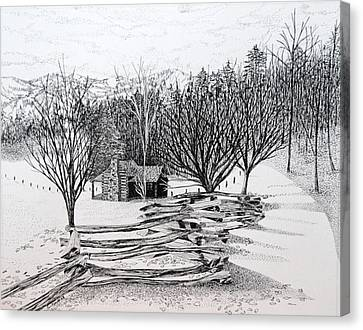 North Carolina Cabin Canvas Print