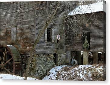 Grist Mill Canvas Print - North Carolina Grist Mill by Benanne Stiens