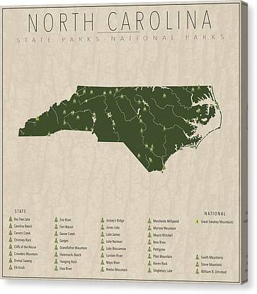 North Carolina Parks Canvas Print by Finlay McNevin