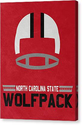North Carolina State Wolfpack Vintage Football Art Canvas Print by Joe Hamilton