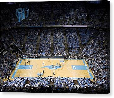 North Carolina Tar Heels Dean E. Smith Center Canvas Print by Replay Photos