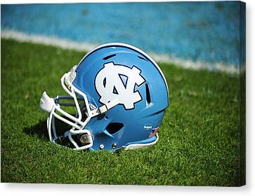 North Carolina Tar Heels Football Helmet Canvas Print by Replay Photos
