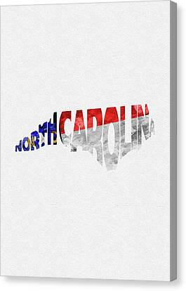 Fayetteville Canvas Print - North Carolina Typographic Map Flag by Inspirowl Design