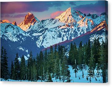 North Cascades Canvas Print - North Cascades Sunset by Inge Johnsson