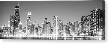 With Canvas Print - North Chicago Skyline Panoramic Photo by Paul Velgos
