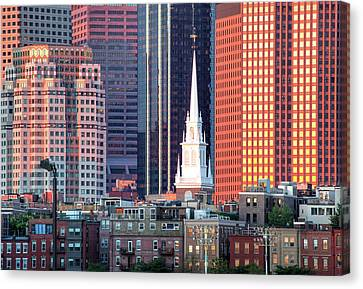 North Church Steeple Canvas Print by Susan Cole Kelly