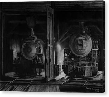 North Conway Roundhouse At Night Canvas Print